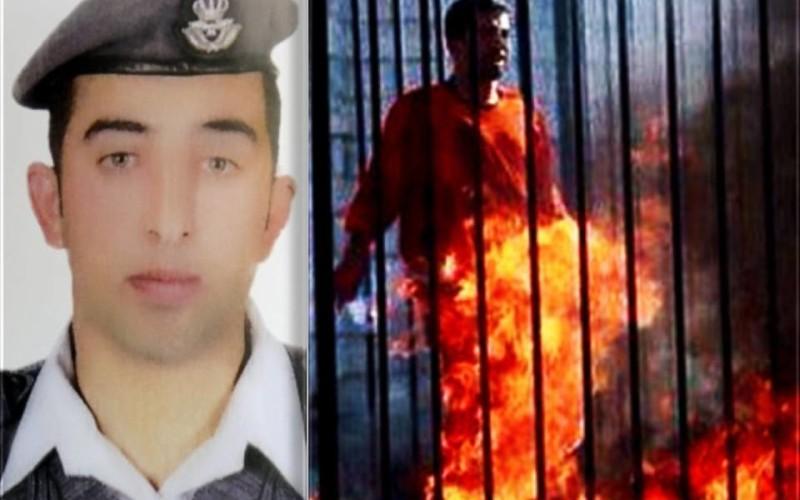 TERIFIANT   Pilot iordanian ars de viu de jihadiștii Statului Islamic
