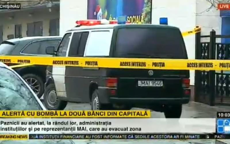 Alertă cu cu bombă la două bănci din Chișinău. Iohannis merge azi în Republica Moldova