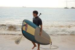Burlacul Andrei Andrei face surf cu vâsla