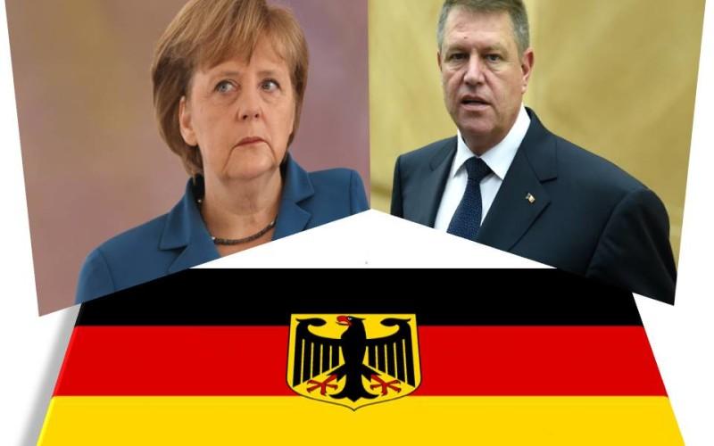 Iohannis se vede cu Merkel în cadrul unei vizite oficiale în Germania