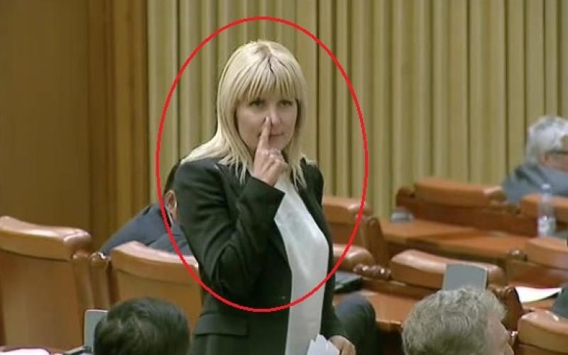 ȘOCANT | Elena Udrea a făcut un gest mafiot în Camera Deputaților