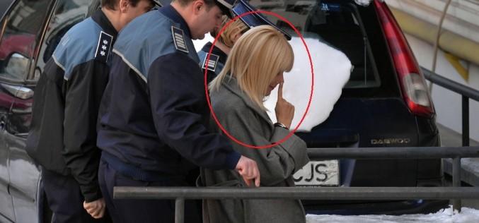 Elena Udrea a repetat gestul mafiot și la Înalta Curte