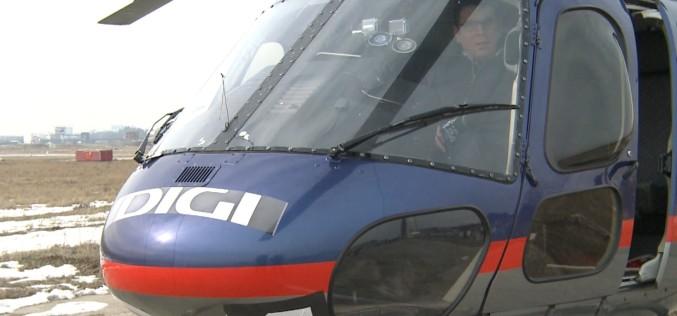 Digi 24 sărbătorește 3 ani de emisie, cu o campanie jurnalistică lansată din elicopter