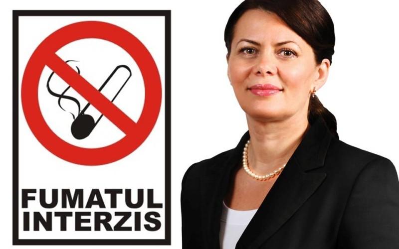 Deputatul Aurelia Cristea vrea să interzică definitiv fumatul în spațiile publice închise
