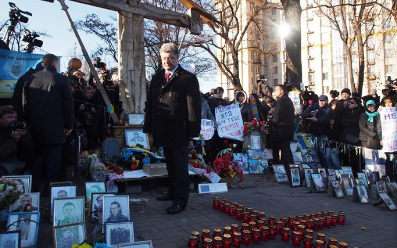 Un an de la EuroMaidan, marcat la Kiev prin Marșul Demnității