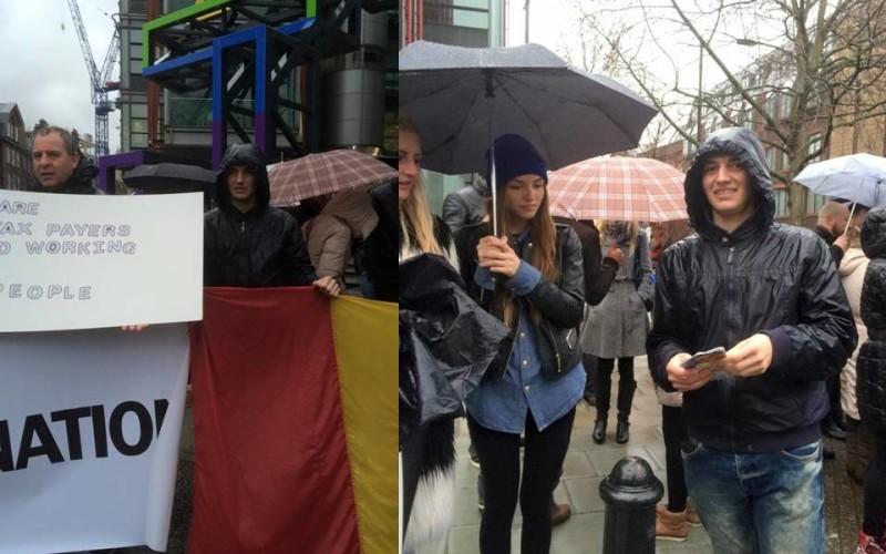 Românii din Londra au protestat în fața televiziunii care-i denigrează