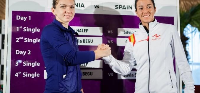 Halep și Espinosa deschid confruntarea România – Spania din Fed Cup