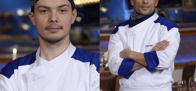 Un fost poloist și un instructor de K1 se întrec la Iadul bucătarilor