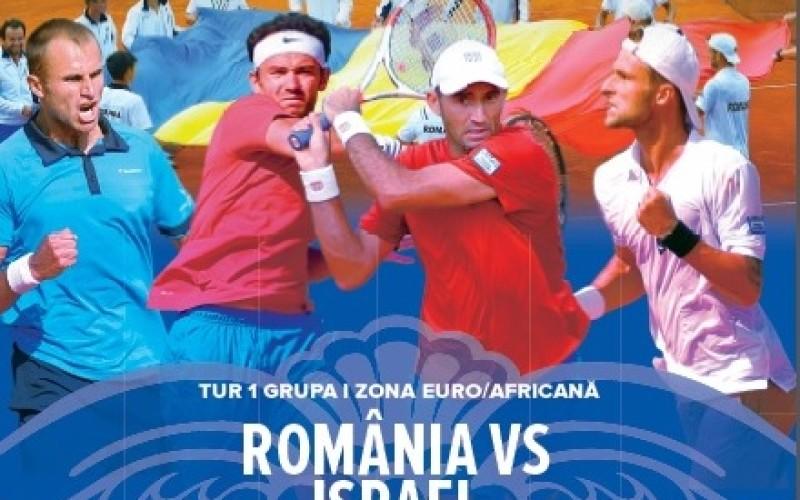 România joacă cu Israel în Cupa Davis. TVR 2 transmite în direct confruntarea