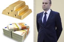 Darius Vâlcov ascundea în seif 3 lingouri de aur și 1,3 miliarde de lei