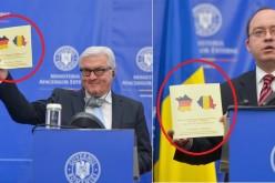 Gafă la MAE. Ministrul Aurescu i-a înmânat omologului german o broșură cu harta Franței