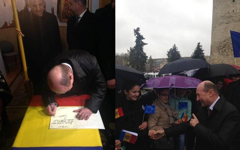 Băsescu jignește și în biserică. A făcut-o analfabetă pe o jurnalistă din Moldova