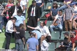 Spectator scos cu forța de jandarmi de la finala BRD Năstase Țiriac Trophy 2015