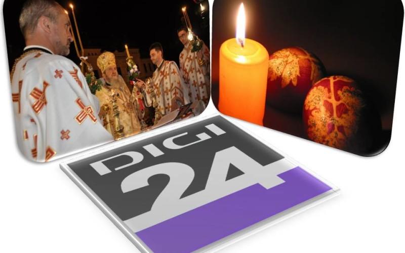 Digi 24 a pregătit transmisiuni speciale cu slujba de Paște, în direct din Republica Moldova