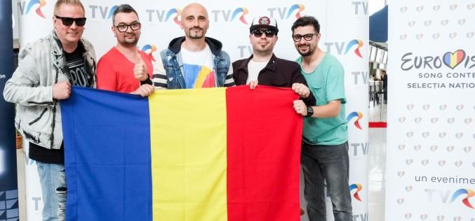 Voltaj a decolat spre Viena ca să reprezinte România la Eurovision