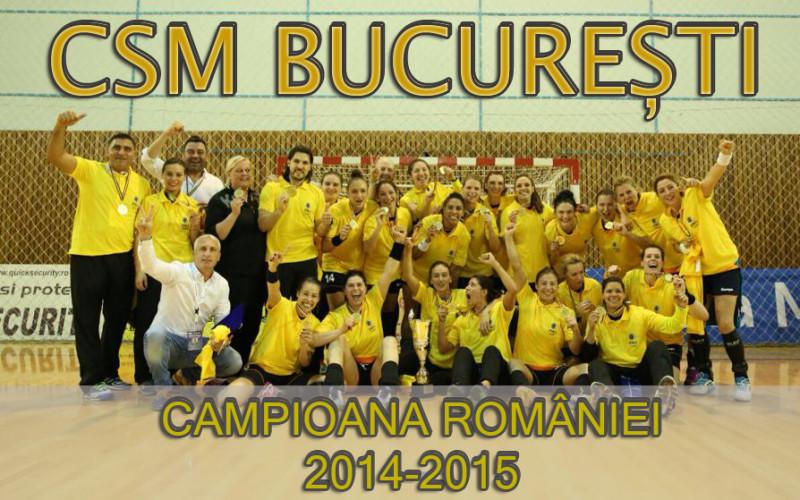 CSM București a devenit în premieră, Campioana României la handbal feminin