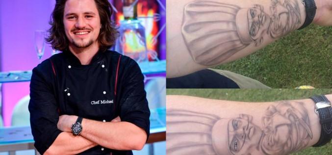 Michael Pascale și-a tatuat pe braț un personaj de desene animate