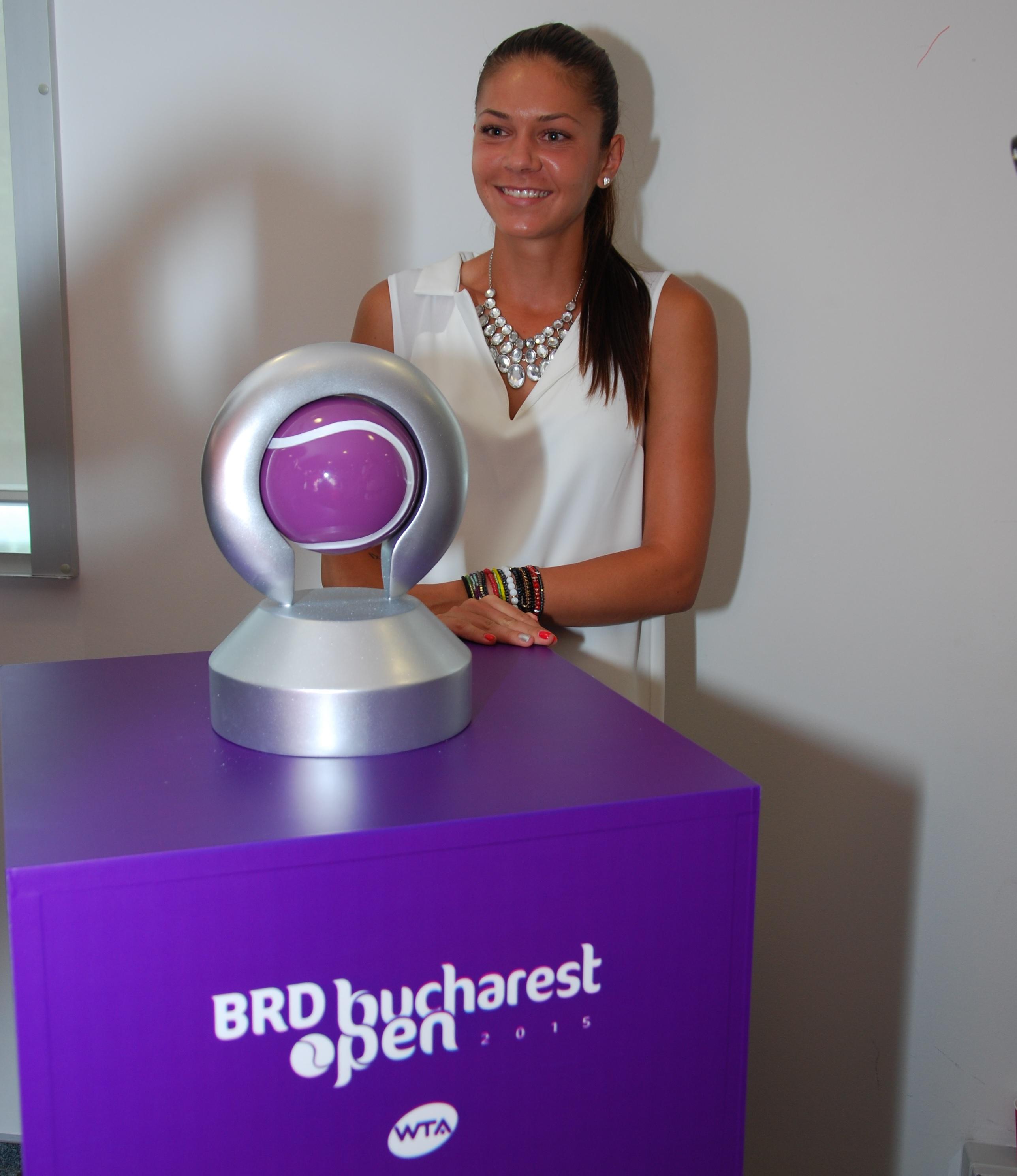 Andreea Mitu - trofeul BRD Bucharest Open 2015
