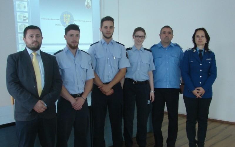 Trei viitori polițiști germani au venitîn vizită la Jandarmeria Cluj