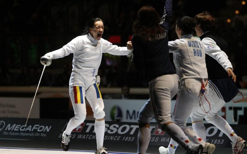 Echipa feminină de spadă a României, aur la Europenele de la Montreux