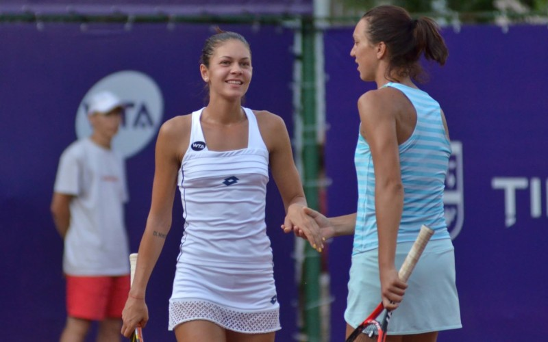 Andreea Mitu și Patricia Țig, în finala de dublu de la BRD Bucharest Open 2015