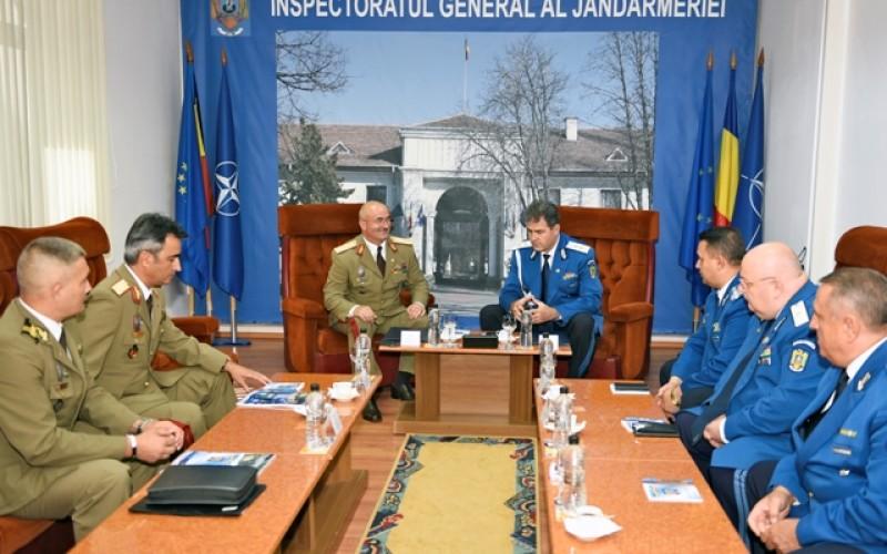 Jandarmeria Română şi Statul Major al Forţelor Terestre cooperează în domeniul formării continue a personalului