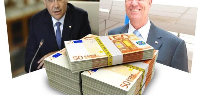 Ponta s-a răzgândit. Nu îi mai taie salariul lui Iohannis. Ba din contră, i-l mărește la 210 milioane lei