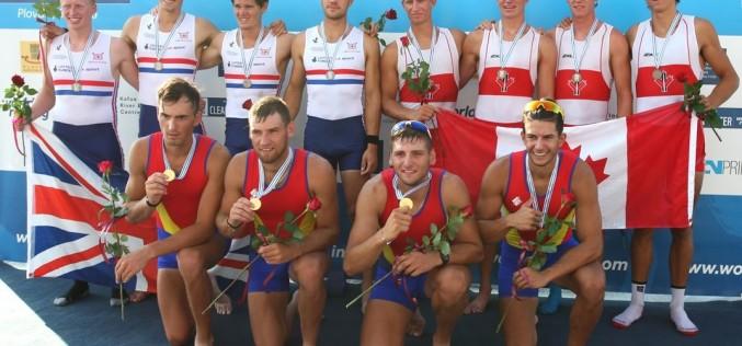 Aur mondial pentru România la canotaj patru rame fără cârmaci masculin la Plovdiv