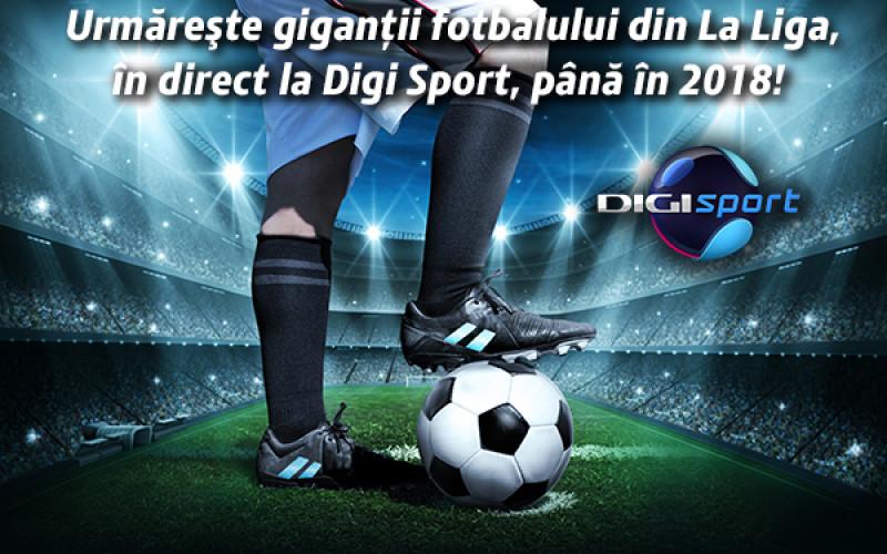 Digi Sport transmite exclusiv în România, încă trei ani, Primera Division
