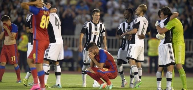 Steaua a pierdut la Belgrad și a ratat calificarea în play-off-ul Ligii Campionilor