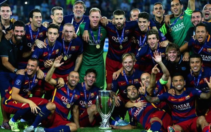 FC Barcelona, regina absolută a fotbalului european. A cucerit SuperCupa Europei