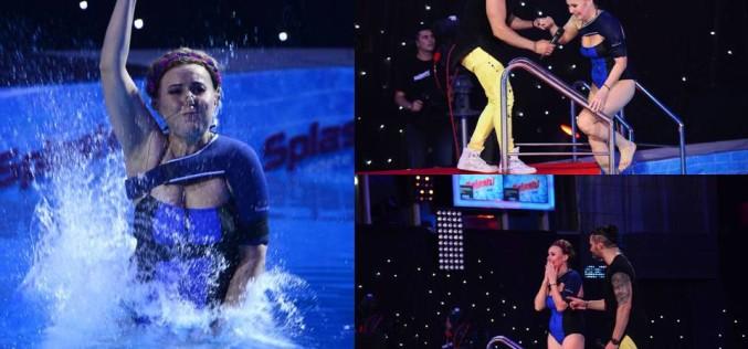 """Tania Popa sare  la """"Splash! Vedete la apă"""", cu brațul stâng legat"""