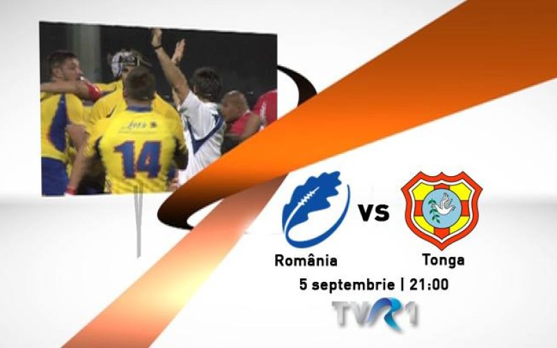 Meciul de rugby România-Tonga, în direct la TVR 1