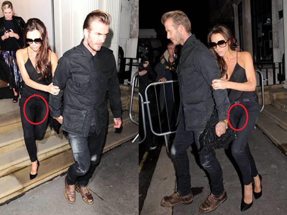 Victoria Beckham a urinat in pantaloni