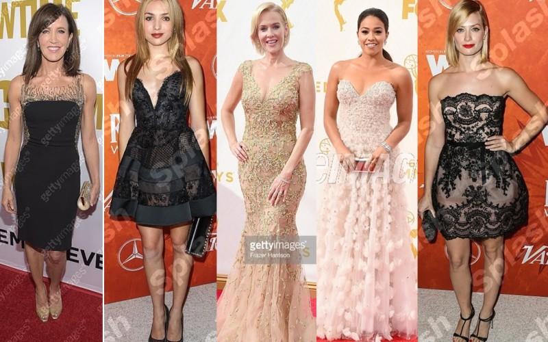 5 actriţe au purtat la Gala Emmy 2015 ţinute create de designerul român Lorena Sârbu