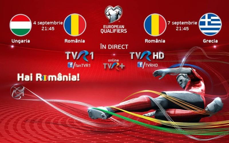 Dublă de foc pentru Naţionala de fotbal a României, în direct la TVR