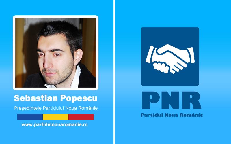Sebastian Popescu: Sătul de actuala clasă politică, am înființat Partidul Noua Românie