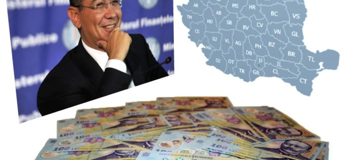 Guvernul Ponta se laudă cu un surplus de 6.5 miliarde de lei la bugetul de stat