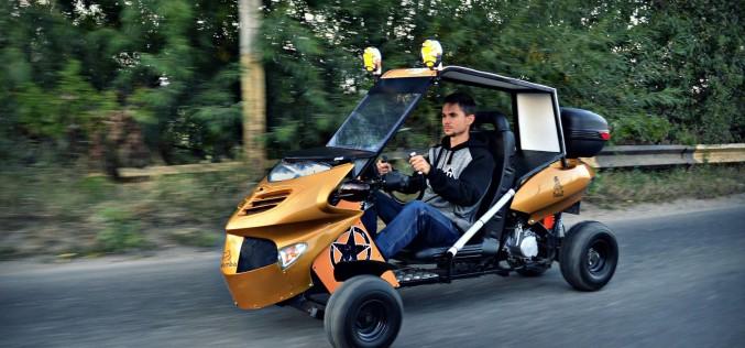 FABULOS | Rareș Zot, ucenicul românului care a inventat rucsacul zburător, a creat mașina Bandit