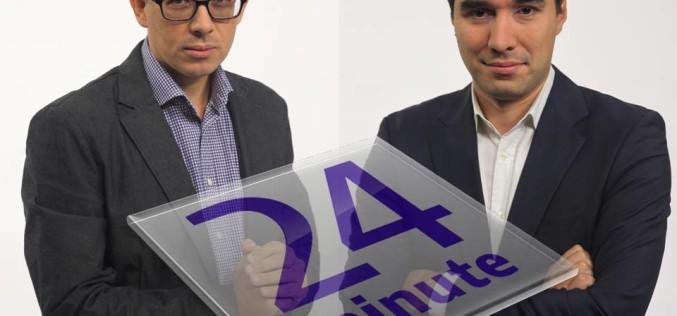 """Claudiu Pândaru și Florin Negruțiu, """"24 de minute"""", din 19 octombrie la Digi 24"""