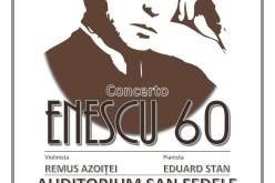 Violonistul Remus Azoriței și pianistul Eduard Stan, în concert la Milano