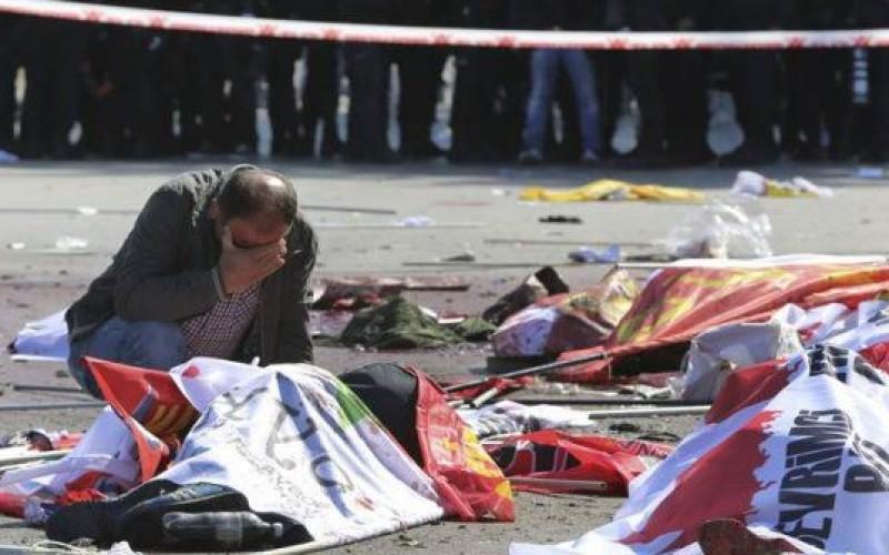 Turcia, zguduită de un dublu atentat terorist produs în Gara din Ankara. Cel puțin 95 de persoane au murit