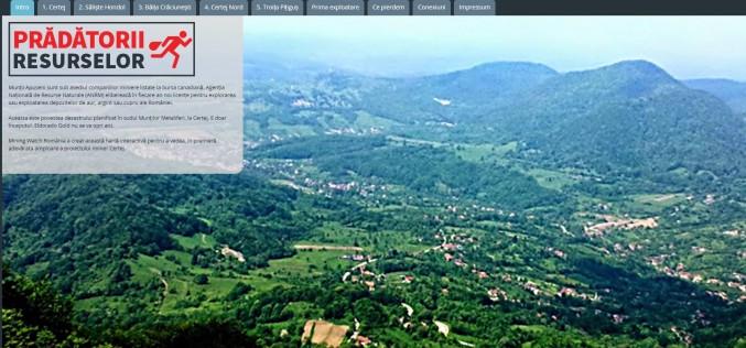 Mining Watch România a creat o hartă cu acapararea resurselor la Certej