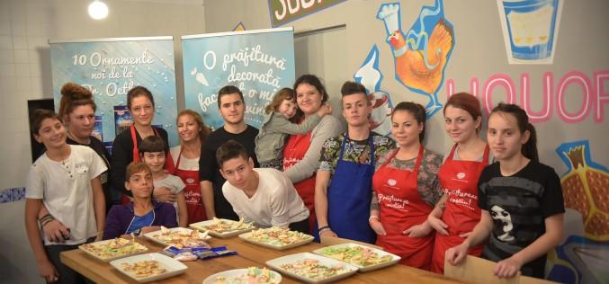 Dr. Oetker prăjitureşte şi decorează alături de adolescenții din SOS Satele Copiilor România
