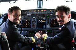 Răzvan și Dani, comandanți de zbor pentru o zi