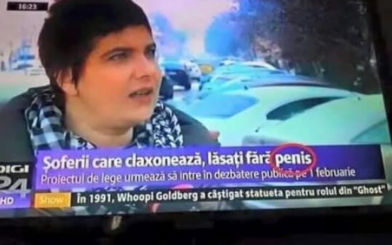 GAFĂ | Digi 24 ne anunță că șoferii care claxonează rămân fără penis!!!