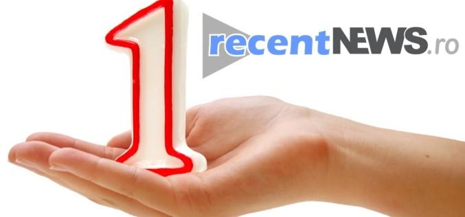 recentNEWS.ro aniversează un an de existență cu peste un milion de vizitatori unici
