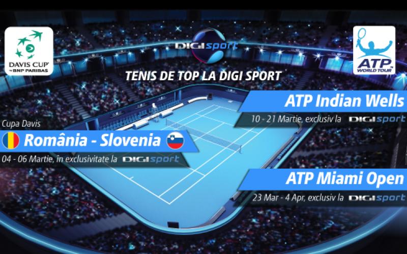România joacă cu Slovenia în Cupa Davis, în direct la Digi Sport