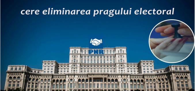 Noua Românie nu vrea prag electoral: Românii să fie reprezentați în Parlament de cei pe care i-au votat