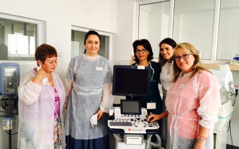 Fundația Salvați Copii a donat un ecograf performant de 40.000 de euro, Maternității din Pitești